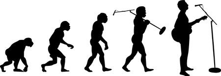 evoluer: homme de musique �volution Illustration