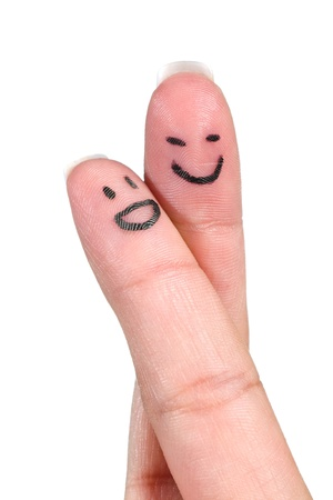 smiling fingers in love Stock Photo - 10120619