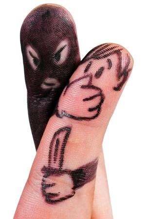bandidas: atracador de dedo Foto de archivo