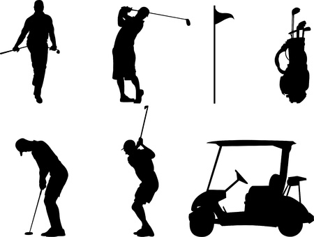 breaking wheel: golf Illustration