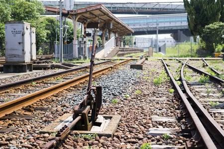 ターンアウト味川口駅 写真素材