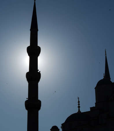 prayer tower: A piece of the Blue Mosque silhouette