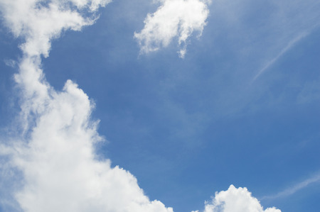 british ethnicity: Beautiful blue sky with cloud.