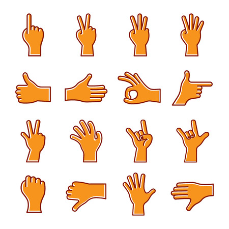 sets of hand icon, vector illustration