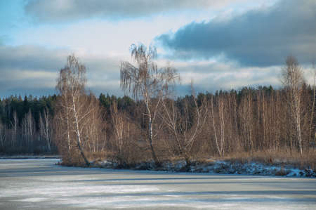 Russian winter landscape on a sunny day