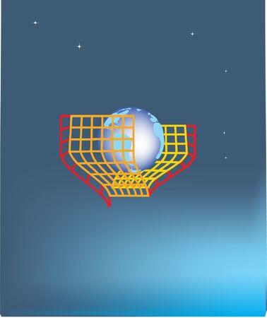 Globe in een beslag Stockfoto - 462186