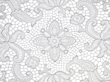 lace: encaje estampado de flores sobre fondo blanco