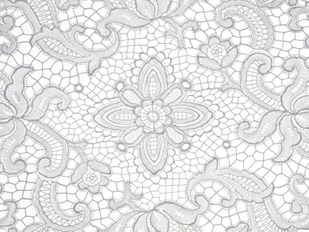 lace floral Pattern on white background photo