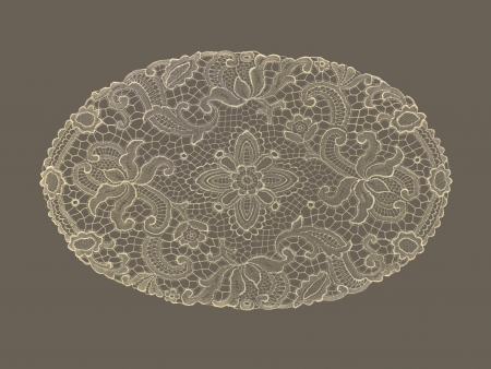background lace sepia background floral fabric doily photo