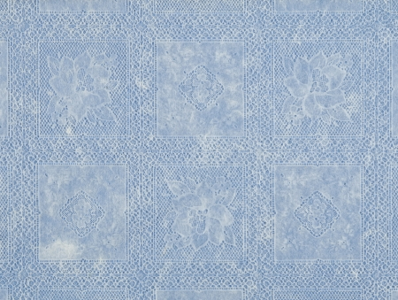 blue floral pattern lace fashioned