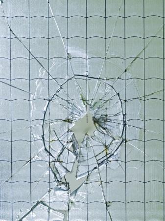bruised: Glass, window, cracked, broken, bruised, danger Stock Photo