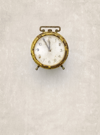 alarm clock, clock, time, old, antique, white, gold photo