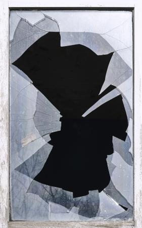 breakage: rotura de cristales, casco, roto, ventana, peligro Foto de archivo