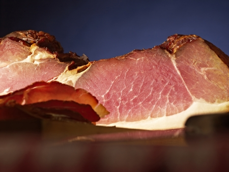 black forest ham, sliced, table photo