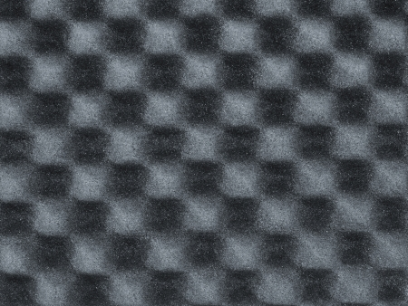 gray foam with waffle pattern