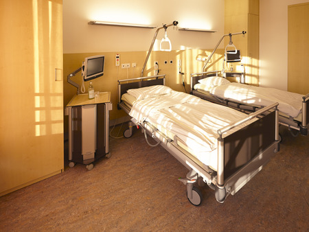 room with two beds in the hospital photo
