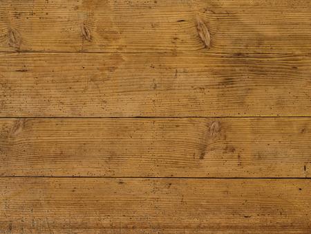 brown old table in dark pine wood