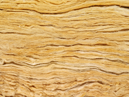 rock wool: Rockwool in profile and in cross-section Stock Photo