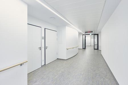 White empty corridor in a hospital Stockfoto