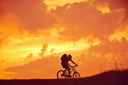 Mountain biker in Sunrise
