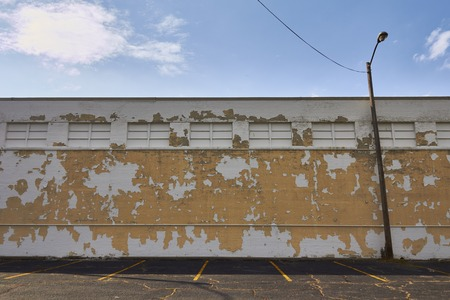 shrinking: empty parking space Downtown Detroit Michigan USA