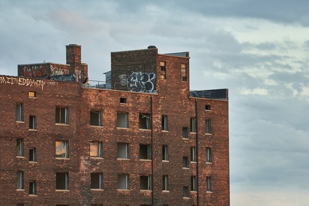shrinking: View at ruins in Downtown Detroit USA Editorial