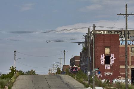 shrinking: Looking towards Eastern Market Detroit USA
