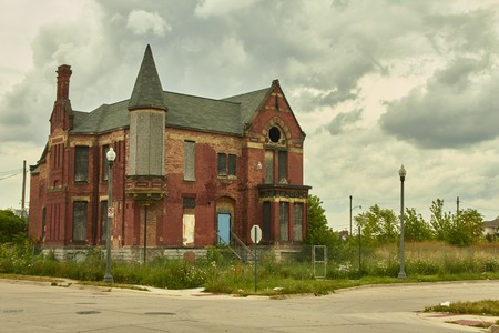 House abandoned in Detroit USA in Midtown