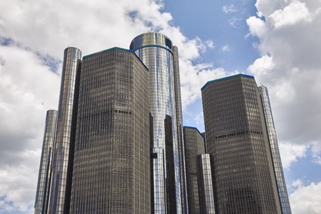shrinking: Detroit USA view at GM headquarters in Downtown MIchigan
