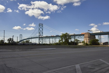 ambassador: Detroit USA look at Ambassador Bridge in Downtown