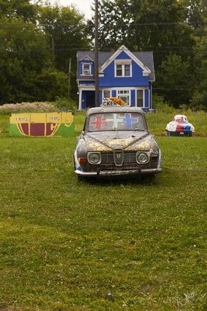 shrinking: Heidelberg Project in Detoit with car as an art object