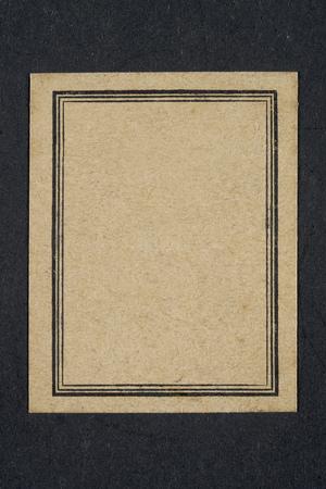 Oefenboek oud zwart en met vergeeld label en zwart frame Stockfoto - 96394967