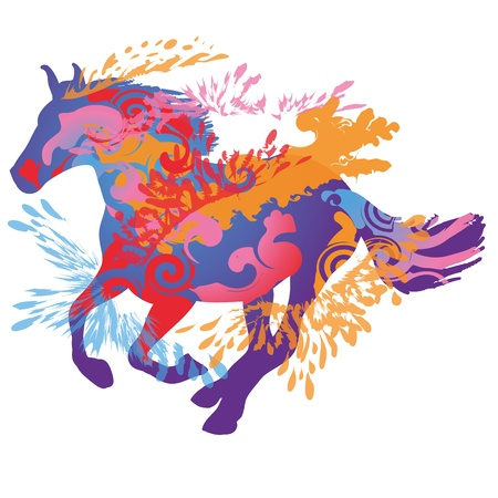 mustang: Galloping Horse Illustration