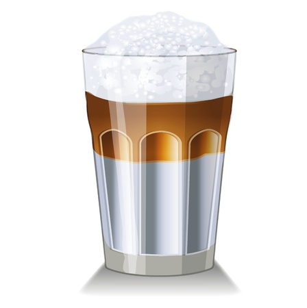 latte macchiato: Latte macchiato - Milk and Coffee