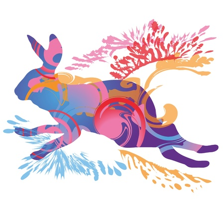 A leaping hare Stock Vector - 13720650