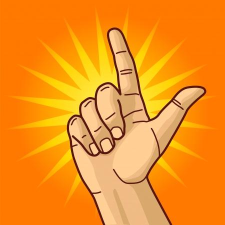 finger index: Hand and index finger
