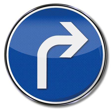 Flèche signe route vers la droite