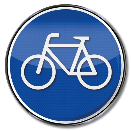 Road Sign Cycle Vector