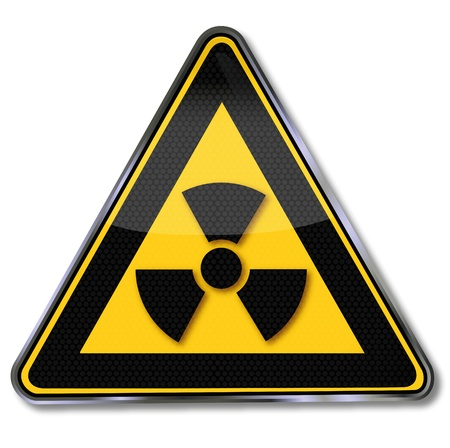 radioactive: Warning sign nuclear radiation
