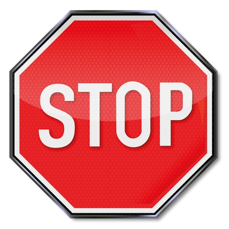 Traffic sign stop sign Vector