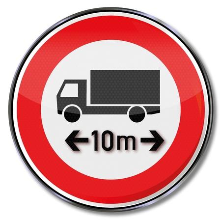 max: Truck traffic sign max length 10m