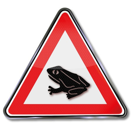warning triangle: Traffic sign toad migration
