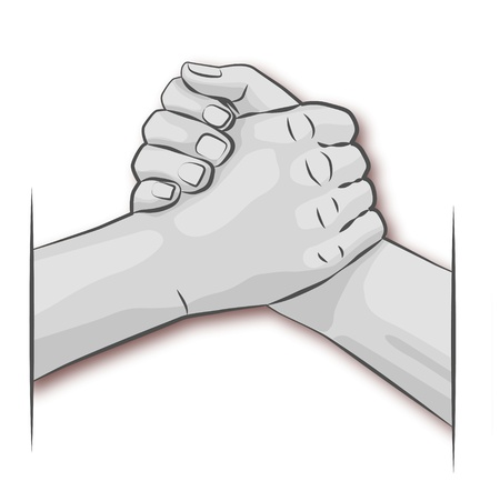 office force: Hands and arm wrestling Illustration