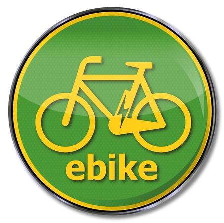 Traffic sign ebike Vector