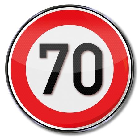 speeder: Traffic sign 70 kmh