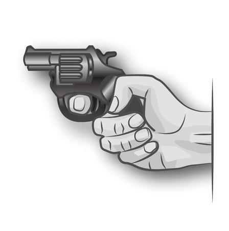 thriller: Hand with gun