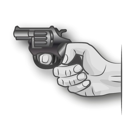 hand gun: Hand with gun