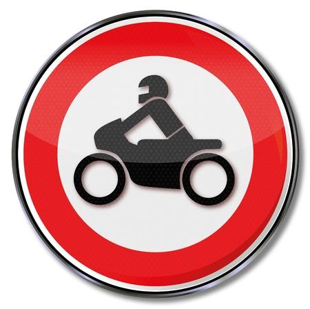 motociclista: Motos señal de tráfico que prohíbe