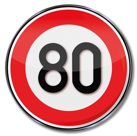 speeder: Traffic sign 80 kmh