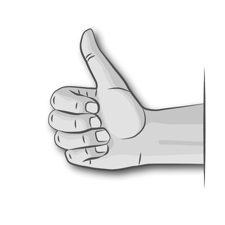Hand and thumbs up Illustration